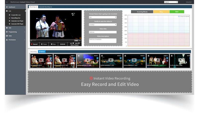 Emision Video Live - Plataforma de Servicios de Streaming - Grabación de canales live al instante