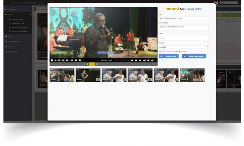Servicios de Streaming Multistream.Grabación live en la nube