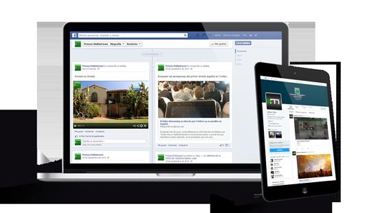 Emisión de eventos integrados en facebook y twitter, Streaming Video 1